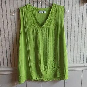 Cato Sleeveless Green Top Size 18/20W